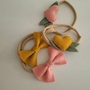 Other - Heart Headband, Baby Headband, Heart with Leaves